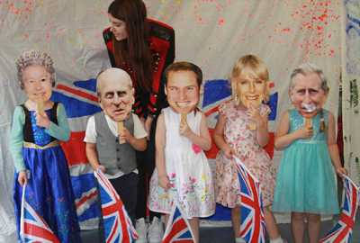 nursery activities at poplars day nurseries children playing with royal family mask